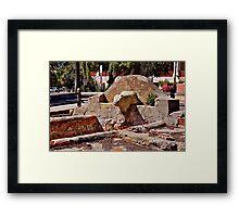 Stone Figure Framed Print