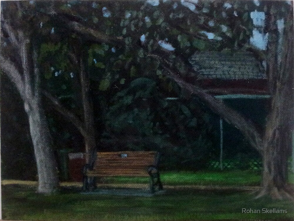En Plein Air - Centenial Park, Newcastle, NSW - June 2012 by Rohan Skellams