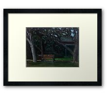 En Plein Air - Centenial Park, Newcastle, NSW - June 2012 Framed Print