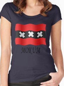 Amsterdam vlag Women's Fitted Scoop T-Shirt
