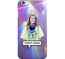 Grace Helbig - I Don't Know iPhone Case/Skin