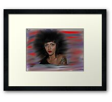 """ Hair "" Framed Print"