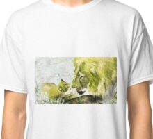 Wild nature - lions Classic T-Shirt