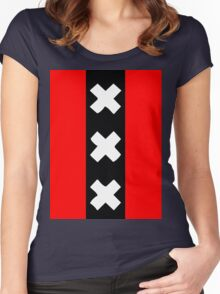 Amsterdam wapen Women's Fitted Scoop T-Shirt