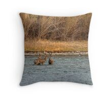 Knee deep in trouble! Throw Pillow