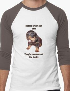Rottweilers Are Not Just Pets Men's Baseball ¾ T-Shirt