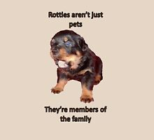 Rottweilers Are Not Just Pets Womens Fitted T-Shirt
