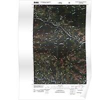 USGS Topo Map Washington State WA Bulldog Mountain 20110509 TM Poster