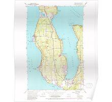 USGS Topo Map Washington State WA Freeland 241217 1953 24000 Poster