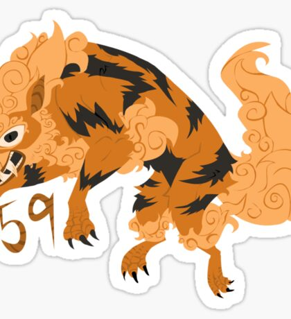 Foo Dog Arcanine Sticker