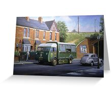 Morrison dustcart. Greeting Card