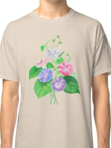 Morning Glory Isolated On White Classic T-Shirt