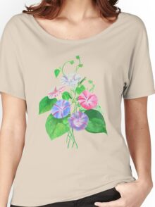 Morning Glory Isolated On White Women's Relaxed Fit T-Shirt