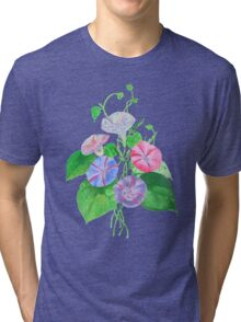 Morning Glory Isolated On White Tri-blend T-Shirt