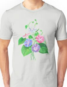 Morning Glory Isolated On White Unisex T-Shirt