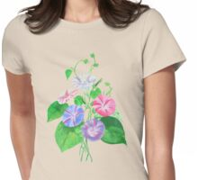 Morning Glory Isolated On White Womens Fitted T-Shirt