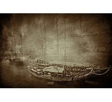 Tall Ships in Sepia Photographic Print