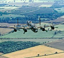 BBMF Lancaster PA474 over Lincolnshire by Colin Smedley