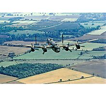 BBMF Lancaster PA474 over Lincolnshire Photographic Print