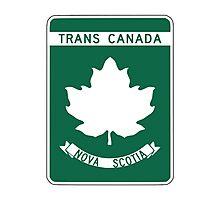 Nova Scotia, Trans-Canada Highway Sign Photographic Print