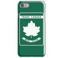 Nova Scotia, Trans-Canada Highway Sign iPhone Case/Skin