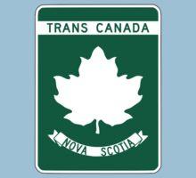 Nova Scotia, Trans-Canada Highway Sign One Piece - Short Sleeve