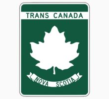 Nova Scotia, Trans-Canada Highway Sign One Piece - Short Sleeve