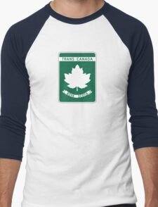 Nova Scotia, Trans-Canada Highway Sign Men's Baseball ¾ T-Shirt