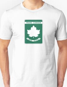Nova Scotia, Trans-Canada Highway Sign Unisex T-Shirt
