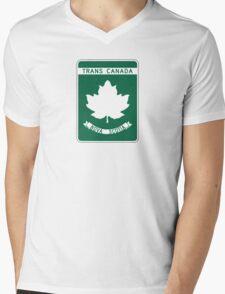Nova Scotia, Trans-Canada Highway Sign Mens V-Neck T-Shirt