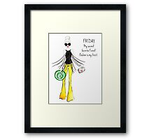 Friday Quote Framed Print