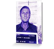 Mugshot Collection - Steve mcQueen Greeting Card