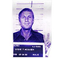 Mugshot Collection - Steve mcQueen Poster