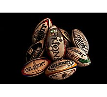 Rugby Balls Photographic Print