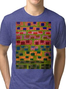 Added Colour to a Colourful Wall Tri-blend T-Shirt