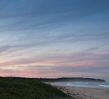 Caves Beach winter sunset by LeahK