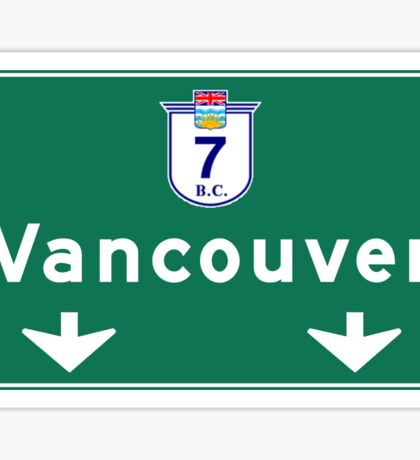 Vancouver, Canada Road Sign Sticker