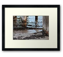 Pier Reflections Framed Print