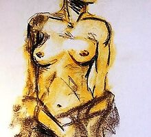 Life Drawing by M J C