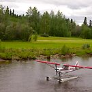 Fairbanks, Alaska, Bush Pilot, Piper Super Cub Floatplane. by johnrf