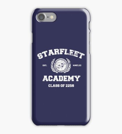 Starfleet Acadmey Class of 2258 - WHT iPhone Case/Skin
