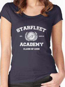 Starfleet Acadmey Class of 2258 - WHT Women's Fitted Scoop T-Shirt