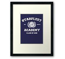 Starfleet Acadmey Class of 2258 - WHT Framed Print