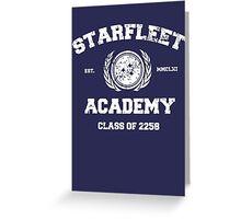 Starfleet Acadmey Class of 2258 - WHT Greeting Card