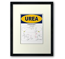 Urea: The Diagram takes the Piss Framed Print