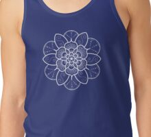 White mandala flower on Bondi Beach  Tank Top