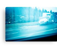 Car crash in #Quebec Canvas Print