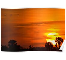 Sunset on Fire Poster