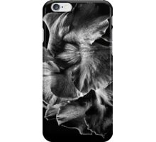 Backyard Flowers In Black And White 2 iPhone Case/Skin