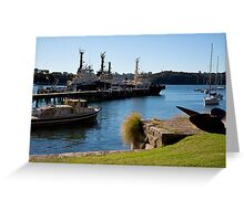 Propeller Park Tugs Greeting Card